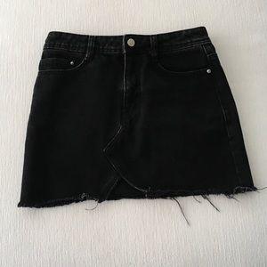 Zara Skirts - NWOT Zara Black Denim Mini Skirt